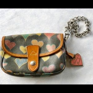 Dooney and Bourke Multicolored Heart Wristlet